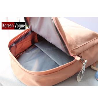 KOREAN VOGUE KV7006 Student Waterproof Nylon Women Unique Fashion Ladies Backpack Bag(Army Green) - 4