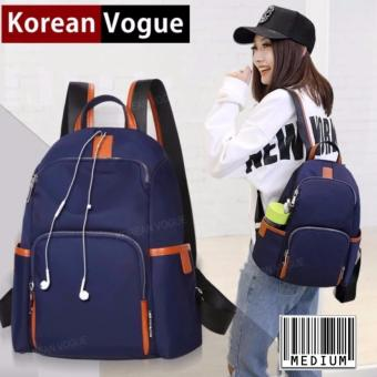 KOREAN VOGUE KV8001 Women Nylon Medium Size Outdoor Ladies Backpack Bag(Blue)