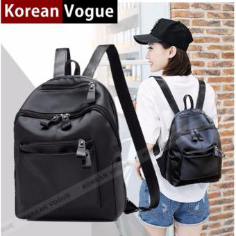KOREAN VOGUE KV8008 -2 Waterproof Nylon Women Unique Style Student Ladies Backpack Bag(Black)