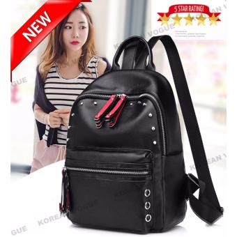 KOREAN VOGUE KV8011-5 Unique Style Women Elegant Backpack Bag(Black)