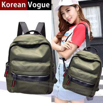 KOREAN VOGUE KV8014 Student Sport Style Women Nylon Backpack Ladies Bag(Army Green )