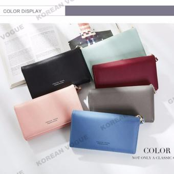 Korean Vogue LW-009 Ladies High Quality Long Section Three Folded Woman Handbag Wallet (Grey) - 2