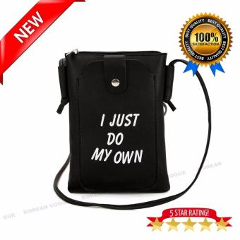KOREAN VOGUE SB-011Mysterious Black Series Synthetic Leather Women Casual Fashion Outdoor Cellphone Shoulder Bag Hand Bag