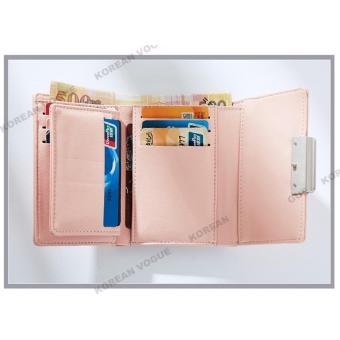 Korean Vogue SW-008 Ladies High Quality Exquisite Multi-functionShort Section 3 Folded Hand Bag Women Wallet Card Holder (Black) - 4