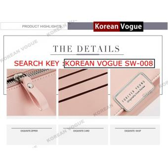 Korean Vogue SW-008 Ladies High Quality Exquisite Multi-functionShort Section 3 Folded Hand Bag Women Wallet Card Holder (Burgundy) - 3