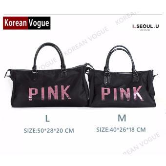 Korean Vogue TB-001 Premium Quality Women PINK 2 Ways Tote Bag Series Ladies Travel Handbag Shoulder Bag(Medium) - 2