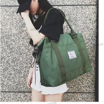 Korean Vogue TB-016 Premium Quality Unisex Tote Bag Series TravelHandbag Shoulder Bag(Army Green)