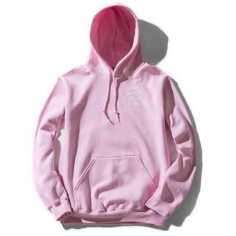 Kuhong Men Sweatshirts Autumn Fashion Hooded Hip Hop StyleStreetwear Tracksuit Hoodies Pink - intl