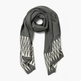 Kultura Ikat Pearl Knit Shawl (Gray)