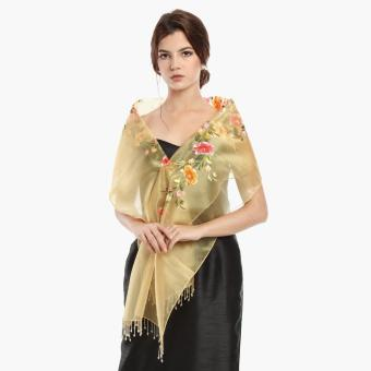 Kultura Raffaella Ladies Organza Shawl (Gold)