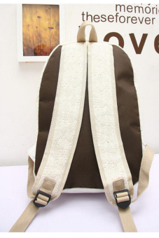 Lace Canvas Backpack Bag (White) - picture 2