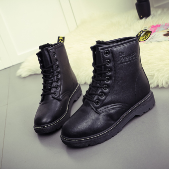 Lace-up Martin Boots Genuine Leather Motorcycle Boots For WomenPlus Size - intl - 2