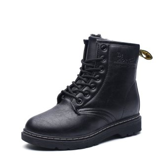 Lace-up Martin Boots Genuine Leather Motorcycle Boots For WomenPlus Size - intl