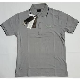 Lacoste Big Croc Slim Men's Polo Shirt (Monument Grey) - 2