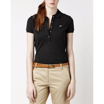 LACOSTE CLASSIC 5 BUTTONS FOR WOMEN (BLACK)
