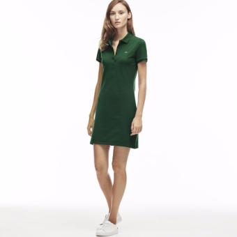 LACOSTE DRESS FOR WOMEN (MOSS GREEN)