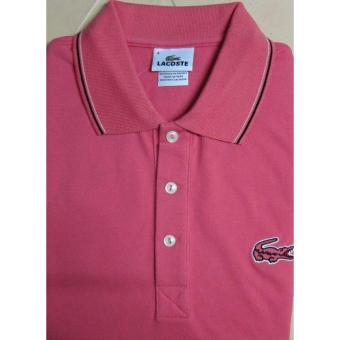 Lacoste Outlined Croc Slim Fit Men's Polo Shirt (Shell Pink)