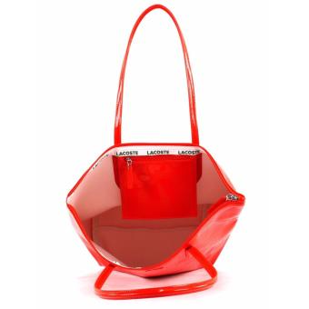 LACOSTE WOMEN'S L.12.12 CONCEPT VERTICAL TOTE BAG RED - 2