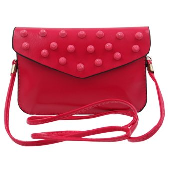 Ladies Decorative Leather Sling Bag (Fuchsia Pink) Price Philippines