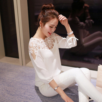 Ladies Loose Casual Long Sleeve Chiffon Tops