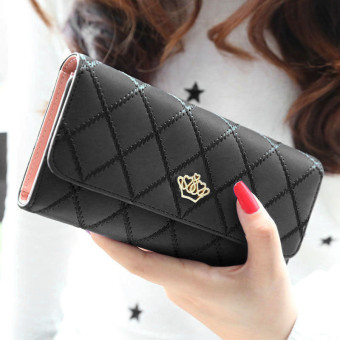 Lady Women Clutch Long Purse Leather Wallet Card Holder Handbag Bags Black