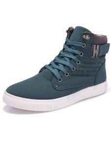 LALANG Casual Men High Cut Canvas Shoes Sneakers Sports Green Price Philippines