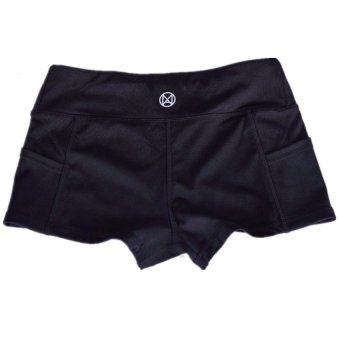 LALANG Hot Women Running Shorts Breathable Sport Short Pants(Black) Price Philippines