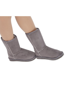 LALANG LALANG Chic Ladies Womens Rubber Sole Snow Ankle Boots Winter Warm Flat Casual Shoes Grey - 3
