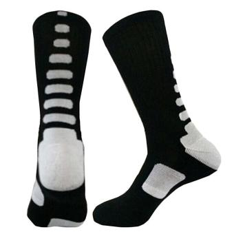 LALANG Men's Sport Socks Professional Basketball Elite Socks Outdoor Sport Sock Black