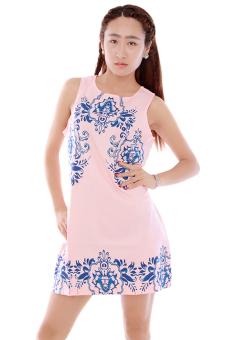 LALANG Sleeveless Chiffon Dress (Pink) - picture 2