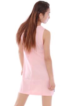 LALANG Sleeveless Chiffon Dress (Pink)