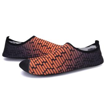 LALANG Unisex Summer Swimming Shoes Beach Soft Flats Yoga Sport Shoes (Orange) - 2