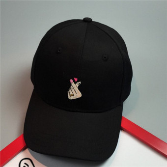LALANG Women Hats New Arrivals Embroidery Simple Couple Baseball Caps (Black) - intl