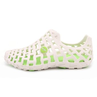 LALANG Women Hole Sandals Summer Plastic Jelly Beach Couple Shoes(White) - intl - 3