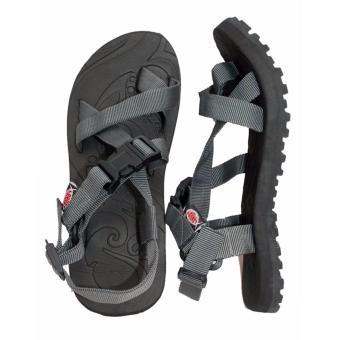Lambat Outdoor Sandals For Men (Gray/Black) - 2