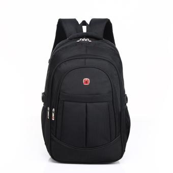 Laptop Backpack Men's Travel Bags 2017 Multifunction Rucksack Waterproof Oxford Black School Backpacks for Teenagers 15inch - intl - 2
