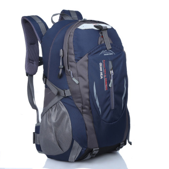 Large Capacity lightweight travel backpack Outdoor Climbing bag (Enhanced version of the dark blue)