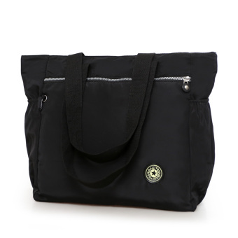 Large Capacity travel women's bag shopping bag (Black)