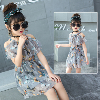 Large Korean-style chiffon New style children's skirt girls dress