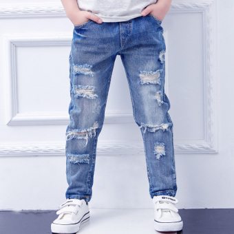 Large Korean-style summer New style small children's denim pants