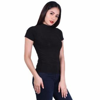 Latest Trend Plain Turtle Neck Blouse (Black) Price Philippines