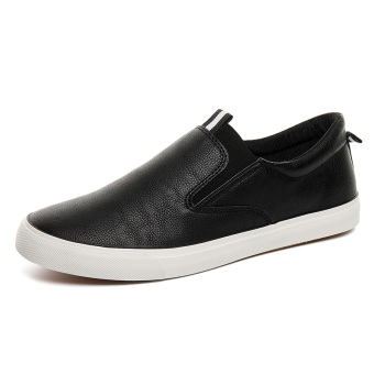 Lazy cool New style moccosins white shoes (Men's + Black [main map section])