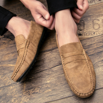 Lazy Korean-style men a pedal leather shoes men shoes (E58 casual)