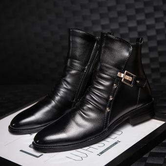 LBW Fashion Designer Pointed Boots(black) - Intl - 4