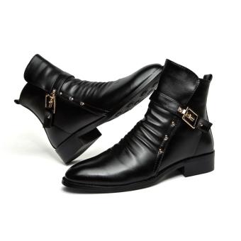 LBW Fashion Designer Pointed Boots(black) - Intl - 2