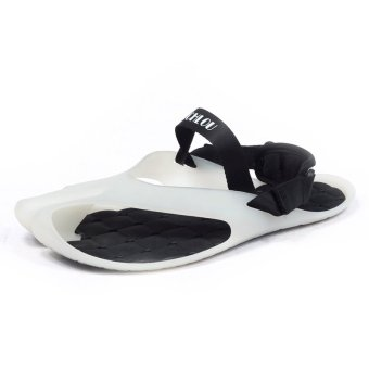 LBW Summer Men's Classic Outdoor Beach Rubber Shoes(white) Price Philippines