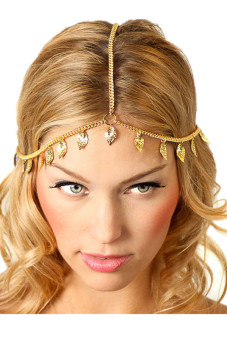 Leaf Tassels Head Chain Headband Headpiece Hairband Jewelry Gift(Gold) Price Philippines