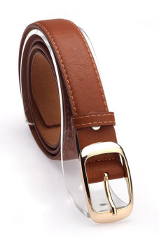 Leather Belts for Women (Brown)