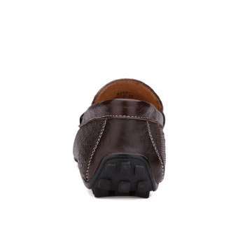 Leather Casual Car Loafers (Dark Brown) - picture 2