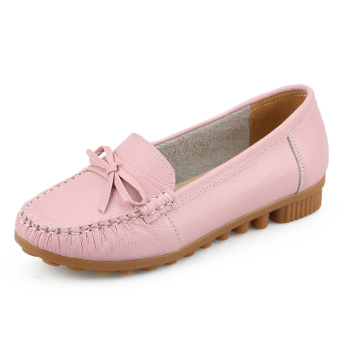 Leather New style mom shoes (Pink)